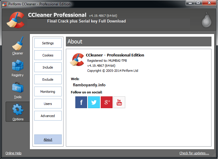 Download ccleaner 64 bits crackeado
