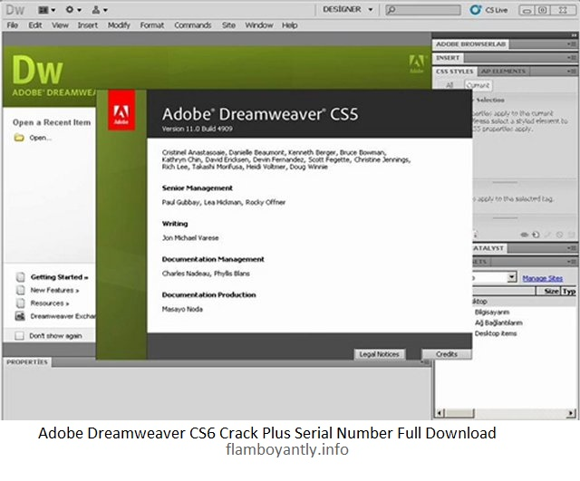 dreamweaver cs6 free serial number