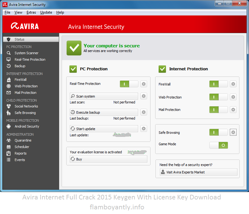 Avira Internet Full Crack 2015 Keygen With License Key Download
