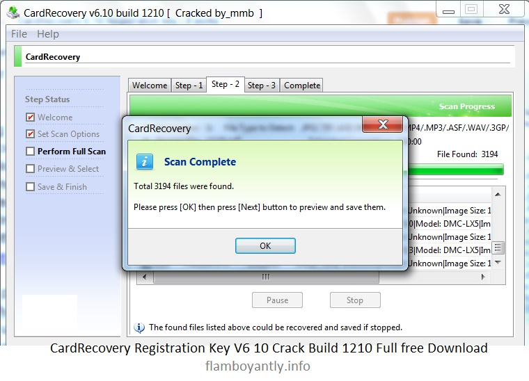 Card recovery v6.10 full with serial key