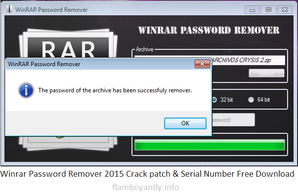 Winrar Password Remover 2015 Crack patch & Serial Number Free Download