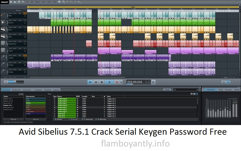 Avid Sibelius 7.5.1 Crack Serial Keygen Password Free