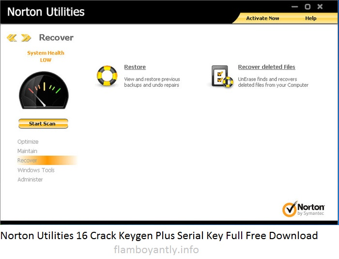 Norton Utilities 16 Crack Keygen Plus Serial Key Full Free Download