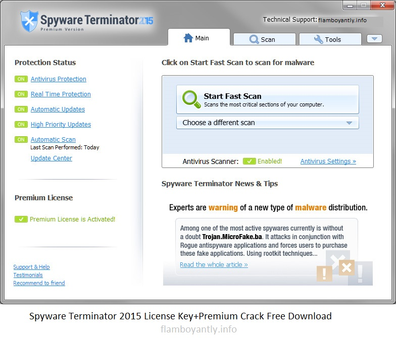 Spyware Terminator 2015 License Key+Premium Crack Free Download