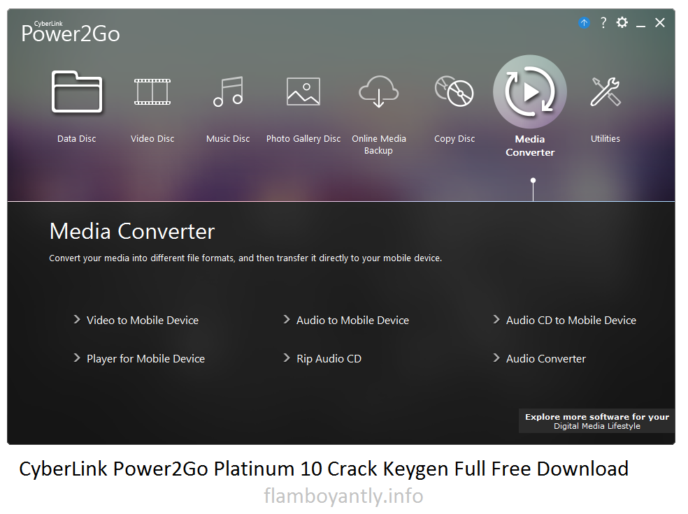 CyberLink Power2Go Platinum 10 Crack Keygen Full Free Download