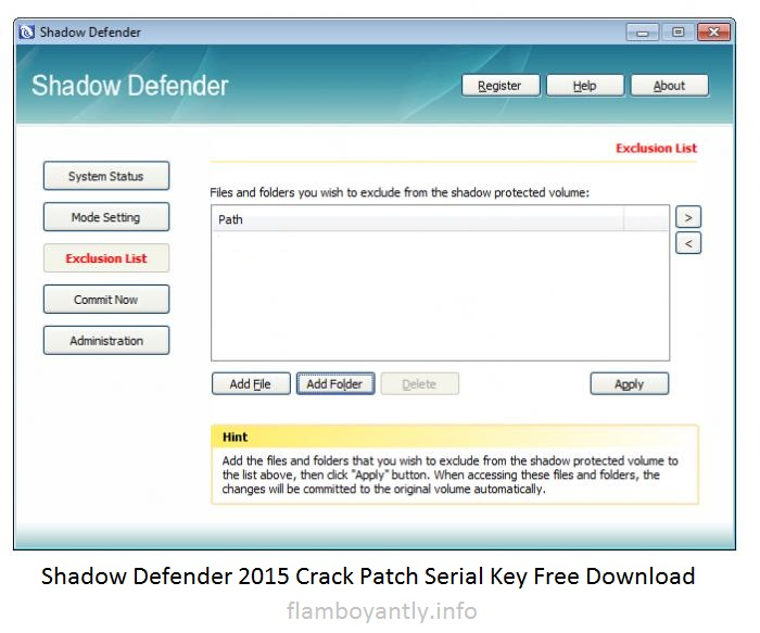 Shadow Defender 2015 Crack Patch Serial Key Free Download