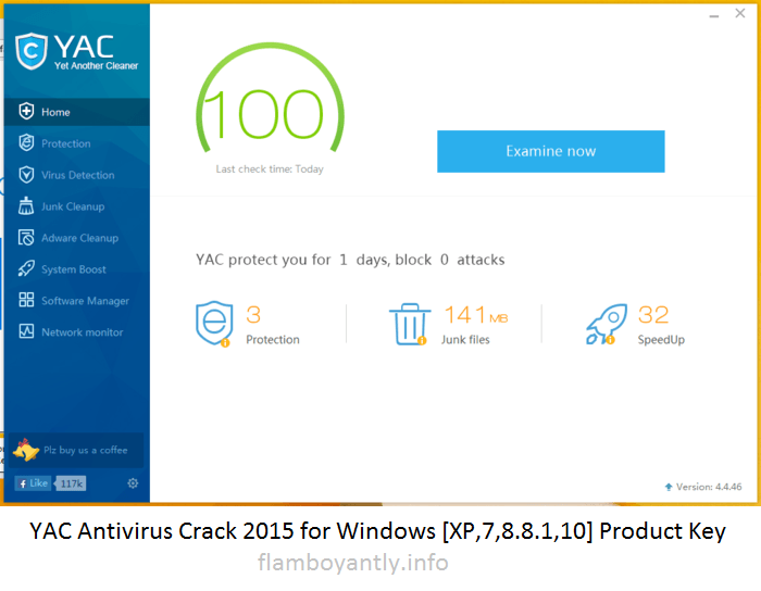 YAC Antivirus Crack 2015 for Windows [XP,7,8.8.1,10] Product Key