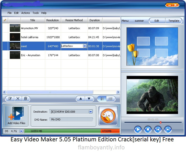 Easy Video Maker 5.05 Platinum Edition Crack[serial key] Free