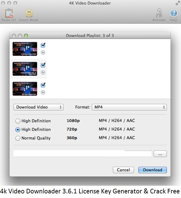 4k Video Downloader 3.6.1 License Key Generator & Crack Free