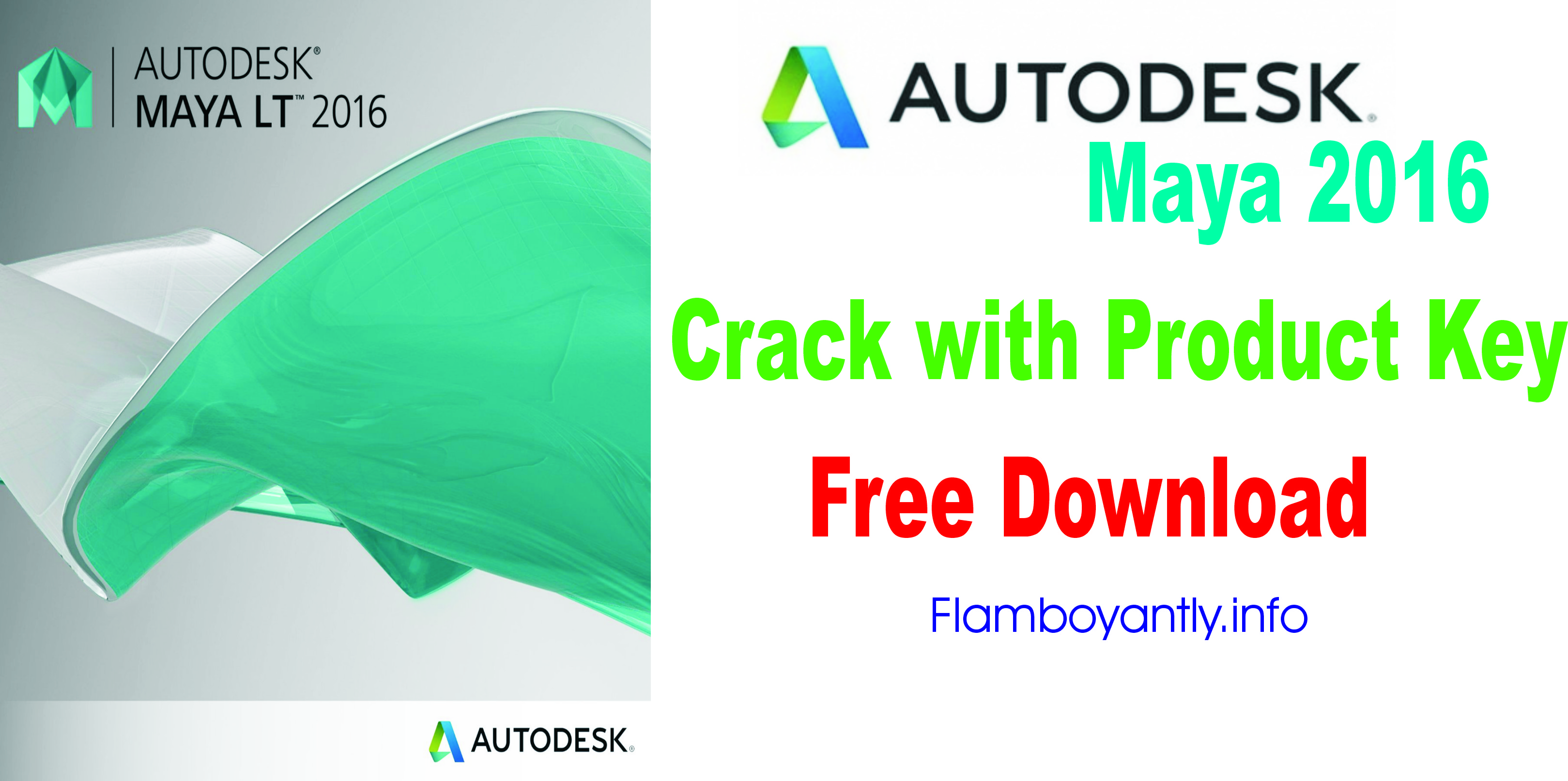 Autodesk Maya 2016 Crack with Product Key Free Download