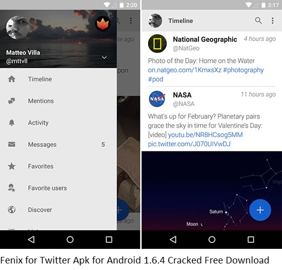 Fenix for Twitter Apk for Android 1.6.4 Cracked Free Download