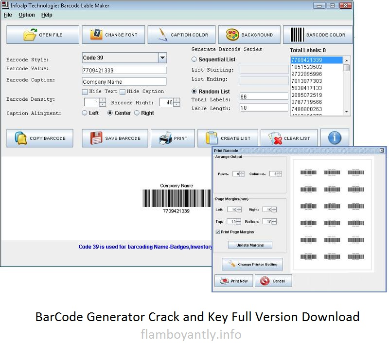 BarCode Generator Crack and Key Full Version Download