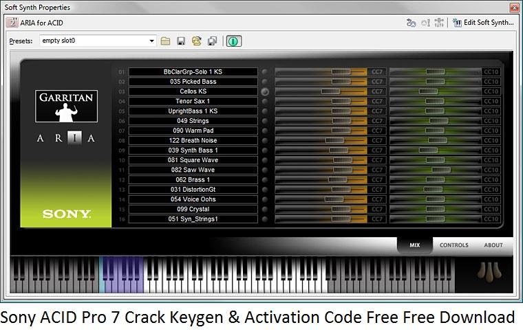 sony acid 7 keygen